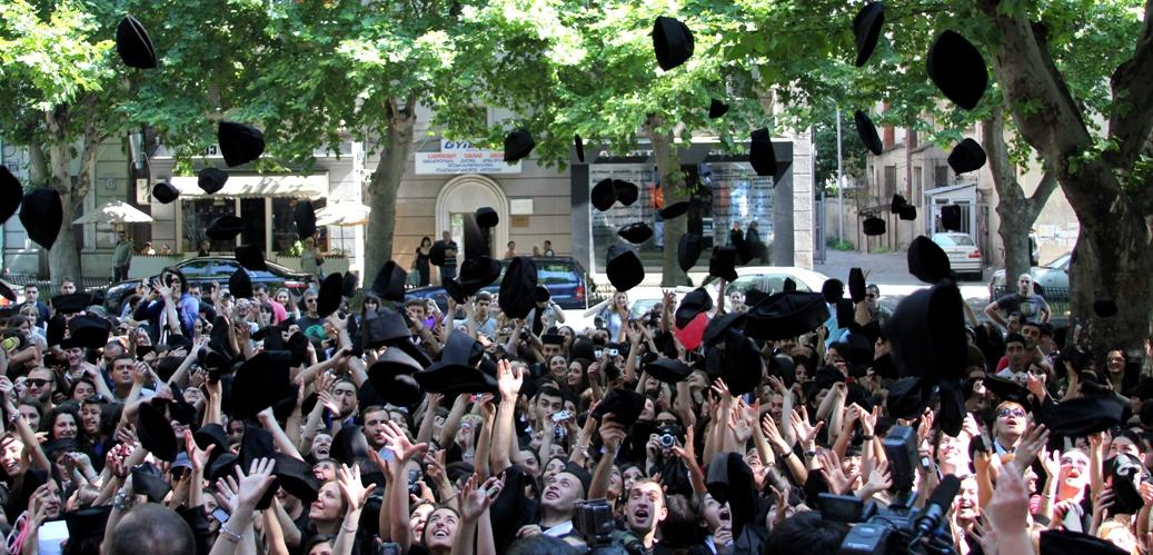 Bachelors students graduating from Ilia University Image credit: Basilaia (Creative Commons)